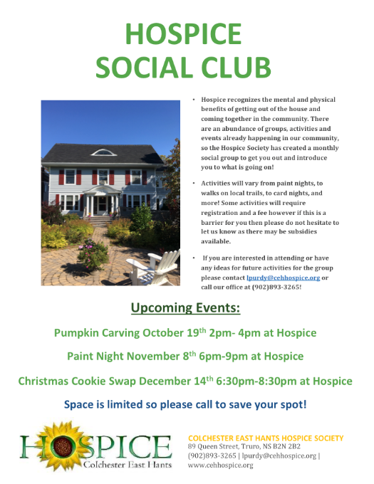 Paint Night - Hospice Social Club @ Colchester East Hants Hospice | Truro | Nova Scotia | Canada